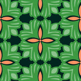 Abstract green floral repeating background Stock Photo
