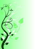 Abstract Green Floral Vector Design Royalty Free Stock Image