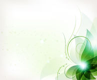 Abstract green flower Stock Images
