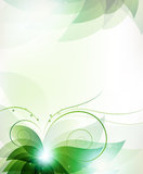 Abstract Green Flower Royalty Free Stock Photo