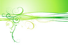 Abstract green flower background Stock Images
