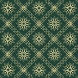 Abstract green flower and grid pattern  illustration eps 1 Royalty Free Stock Photo