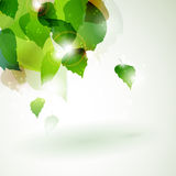 Abstract green foliage with light effects stock illustration