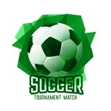 Abstract green football soccer tournament sports background. Illustration Royalty Free Illustration
