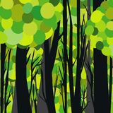 Abstract green forest Royalty Free Stock Images