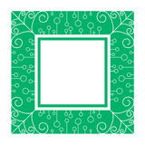 Abstract green frame. By line and curve Stock Images