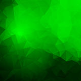 Abstract green frame with triangles Stock Image