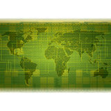 Abstract green futuristic tech background Royalty Free Illustration