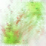 Abstract green geometric background Stock Image
