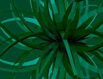 Abstract green geometric 3d shape. Stock Images
