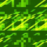 Abstract green geometric ornament seamless background. Vector. Abstract green geometric ornament seamless pattern. Pixelated mosaic repeating background. Vector Stock Photography