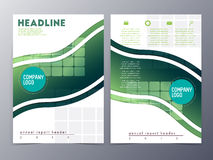 Abstract green geometric pattern brochure design template vector Royalty Free Stock Photos