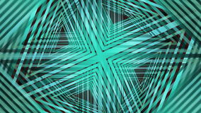 Abstract green geometric patterns, rotating, overlapping, kaleidoscopic ornaments, animated illustration, decorative movie, beams. Creating stars, triangle stock illustration