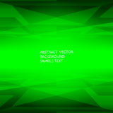 Abstract green geometric polygonal background with copy space.  Stock Photo