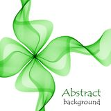 Abstract green gift bow made of transparent ribbons. On a white background Royalty Free Stock Photography