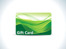 Abstract green gift card Stock Photo