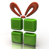 Abstract green gift Royalty Free Stock Photo