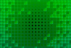 Abstract green glass blocks Stock Image