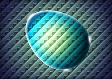 Abstract green glass egg Stock Photos
