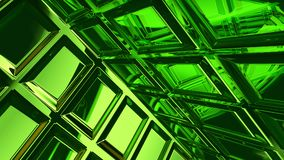 Abstract green glass background 3d rendering. Abstract green glass futuristic background 3d rendering computer simulation royalty free illustration