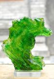 Abstract green glass stone Stock Images