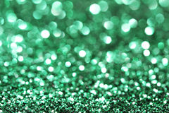 Abstract green glitter background Stock Photos