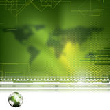 Abstract green global futuristic background Royalty Free Stock Photo