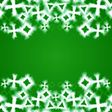 Abstract green glowing geometric background Stock Images