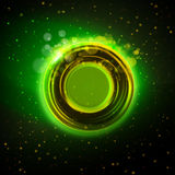 Abstract green glowing ring background Royalty Free Stock Image