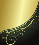 Abstract green and gold background Stock Images