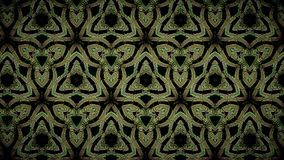 Abstract green gold and black color pattern wallpaper Stock Photography
