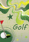 Abstract green golf poster. Vector illustration Royalty Free Stock Photos