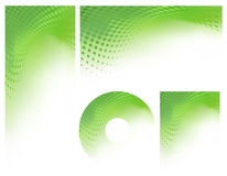 Abstract Green Graphic Background Set Stock Image