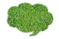Abstract green grass bubble talk isolate Stock Images