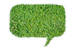 Abstract green grass bubble talk isolate Stock Photos