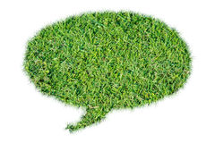 Abstract green grass bubble talk isolate Royalty Free Stock Photography