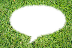 Abstract green grass bubble talk isolate Stock Photo
