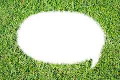 Abstract green grass bubble talk isolate Stock Image