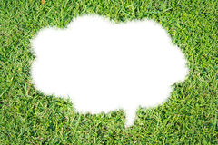 Abstract green grass bubble talk isolate Stock Photography