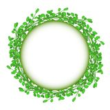 Abstract green grass circle frame vector whit. Wreath as a symbol of celebration or sorrow Royalty Free Stock Photography