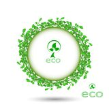 Abstract green grass circle frame vector whit. Wreath as a symbol of celebration or sorrow Royalty Free Stock Photo