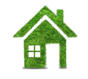 Abstract green grass house icon Royalty Free Stock Photo