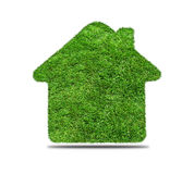 Abstract green grass house icon Royalty Free Stock Photography