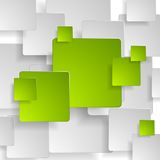 Abstract green grey squares tech background Stock Photography