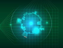 Abstract green grid equalizer background Stock Image