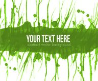 Abstract green grunge background with place for your text. Vector illustration. Abstract green grunge background with place for your text. Vector illustration Royalty Free Stock Photos