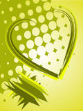 Abstract green heart Stock Photography