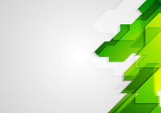 Abstract green hi-tech bright background Stock Photography