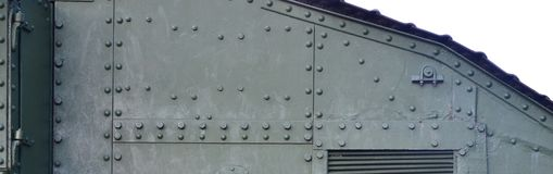 Abstract green industrial metal textured background with rivets and bolts stock images