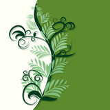 Abstract green and ivory background Royalty Free Stock Photo